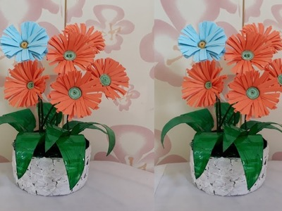 Make how to make paper flower pot king paper flower step by step how to make paper flower pot king paper flower step by mightylinksfo