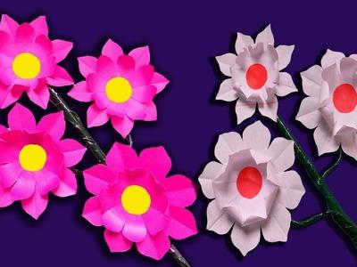 How to Make  Paper Stick Flower | Stick Flower Homemade-FlowerUPC |