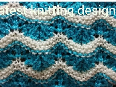 Latest and easy  knitting design for ladies sweater , border ,or frock. new knitting design2018