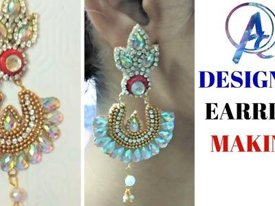 Making of designer earrings || how to make latest designer earrings || peacock feature design