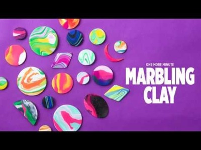 One More Minute: How to Make Marbled Clay Jewelry