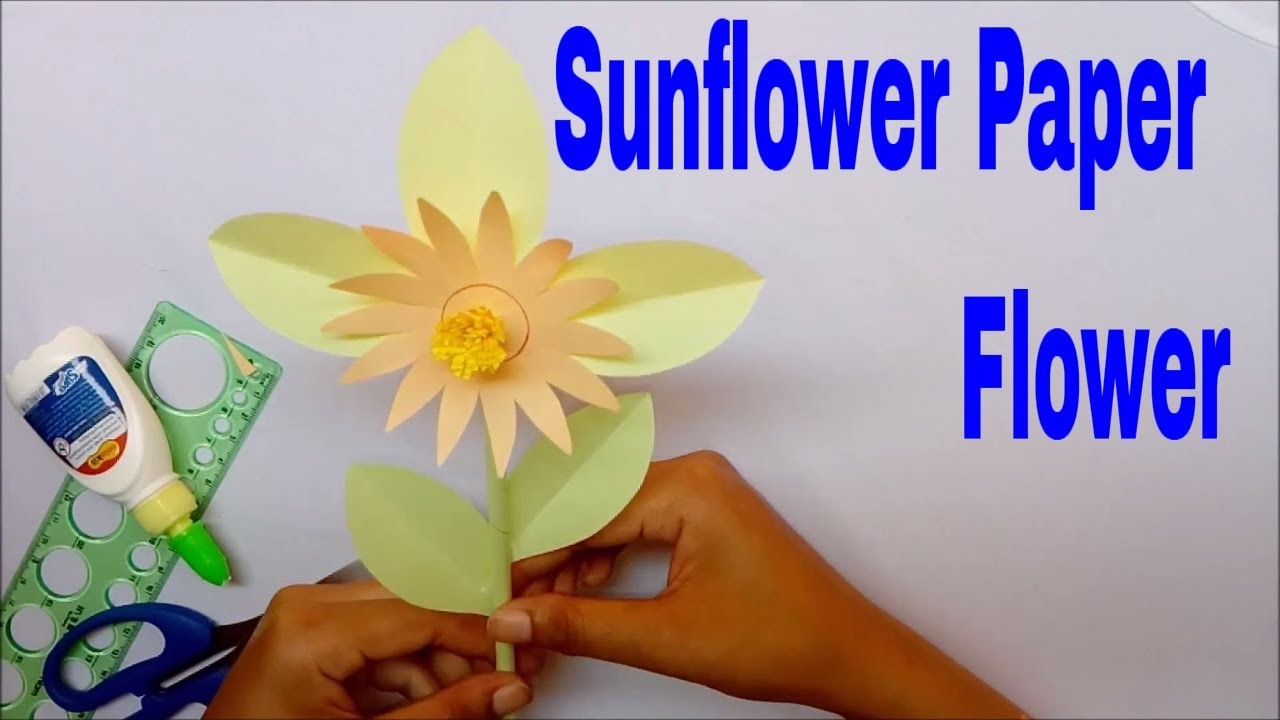 Origami Paper How To Make Sunflower Paper Flower