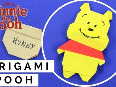 Origami Winnie the Pooh - How to Fold Paper Winnie the Pooh - Origami Bear Head with Body