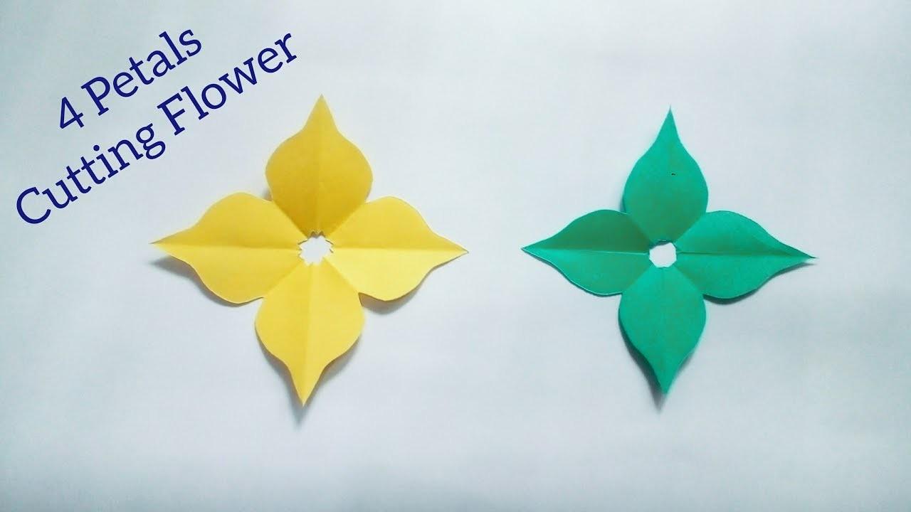 Flower simple easy handmade cutting flowerhow to cut 4 petals flower simple easy handmade cutting flowerhow to cut 4 petals paper origami2 simple easy mightylinksfo