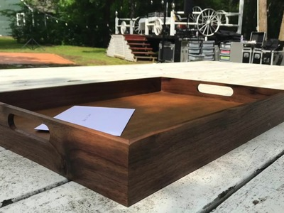 Woodworking Ep 2 | How to Build a Serving Tray using Walnut & MDF | Wedding Gift