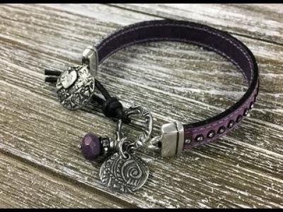 BEADING TUTORIAL - How to make the Charming Leather Bracelet Kit