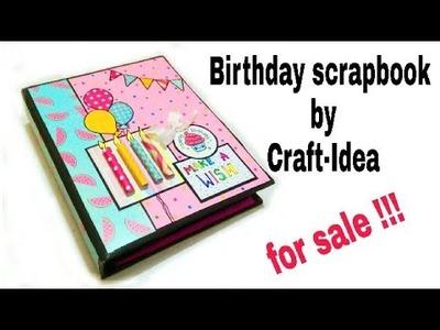 Birthday scrapbook for sale.