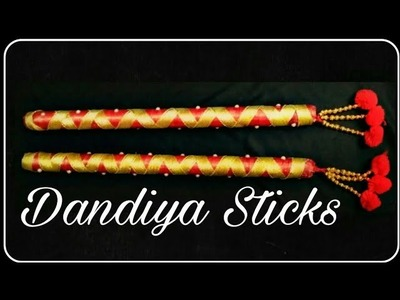 Dandiya decoration ideas. how to make dandiya stick at home with wood stick. dandiya stick