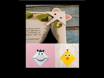 DIY 3 Animal Bookmarks | How to make a Corner Bookmark | 3 Easy and Cute Animal Bookmarks |