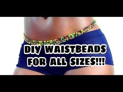 DIY AFRICAN WAIST BEADS | DIY JELL JELLI BEADS |  FUN | FASHIONABLE BEADS