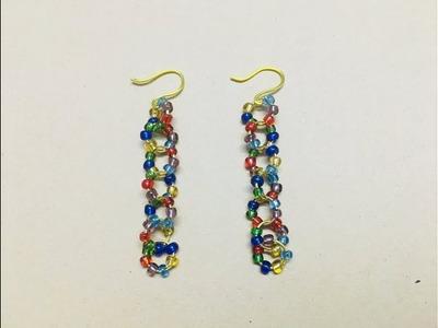 DIY Easy Beaded Earrings | Seed Beads Earrings