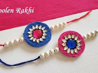 DIY    How To Make Woolen Thread Rakhi At Home    Rakhi Making Ideas    Handmade Rakhi # 3