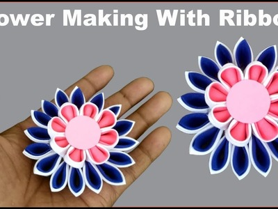 Ribbon how to make craft paper snail shellper ribbon snail shell diy ribbon flower making how to make ribbon flowers step mightylinksfo