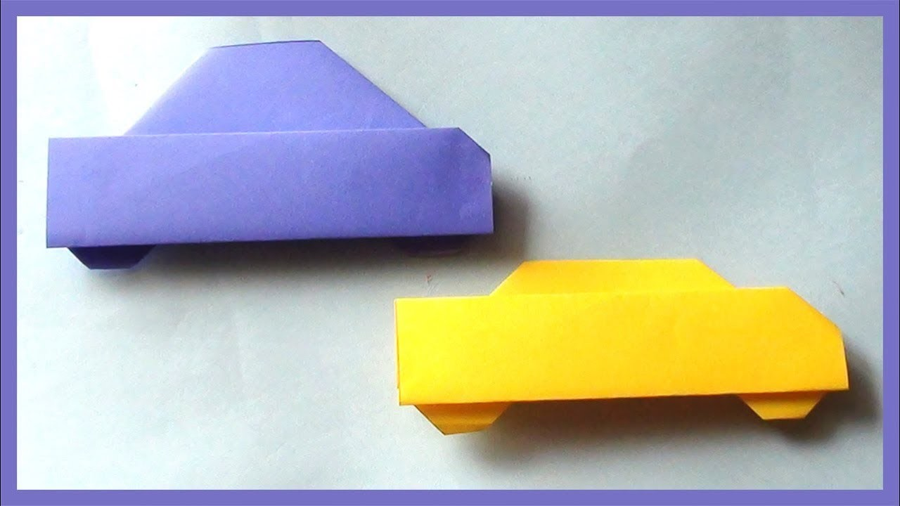 Easy Paper Car Origami, How to Make Simple Paper Car