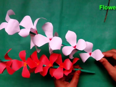 Handcraft Ideas for Home | How to Make Beautiful Paper Stick Flower-FlowerUPC |