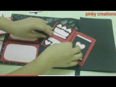Handmade scrapbook   best gift ever   DIY   pinky creations
