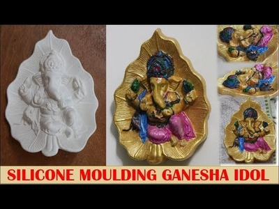 How to create a Ganesha Idol using Silicone Mould and Plaster of paris