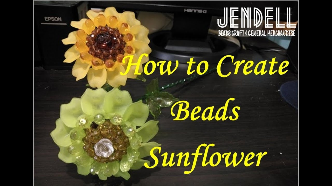 How to Create Beads Stemmed Sunflower (Video 1 MAKING THE SEEDS)
