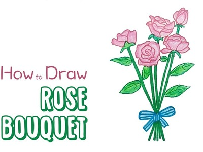 How to Draw a Rose Bouquet