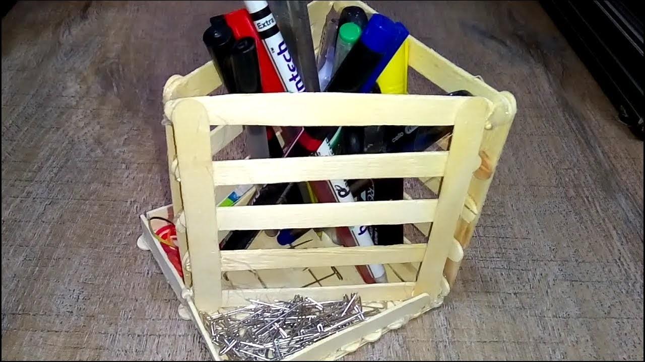 How to ice cream stick pen.pencil box   || pan box at home || Pen box By Ice Cream Stick