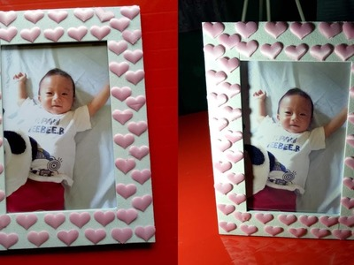 How to Make 3D Origami Heart Photo Frame at Home