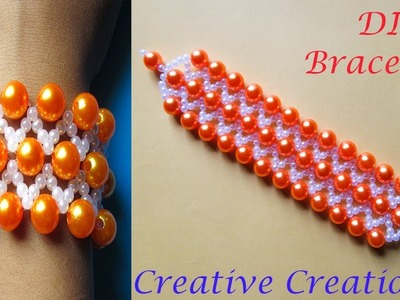 How to make a beautiful Bracelet by Pearl Beads