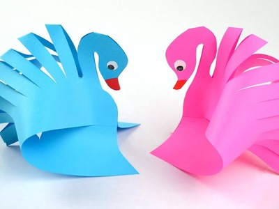 How to Make a Paper Swan   Easy Paper Crafts