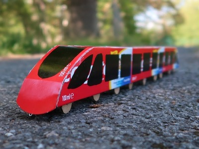 How to make a train at home - Amazing Colgate train