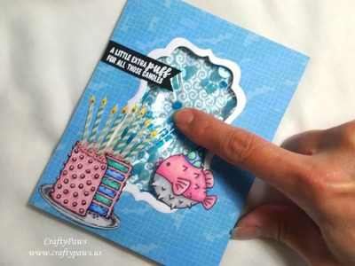 How to Make a Water Shaker Card - Scrapping for Less GDTP