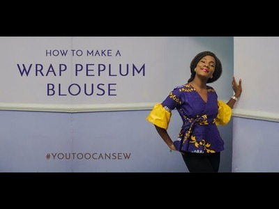 HOW TO MAKE A WRAP PEPLUM BLOUSE. STITCHING