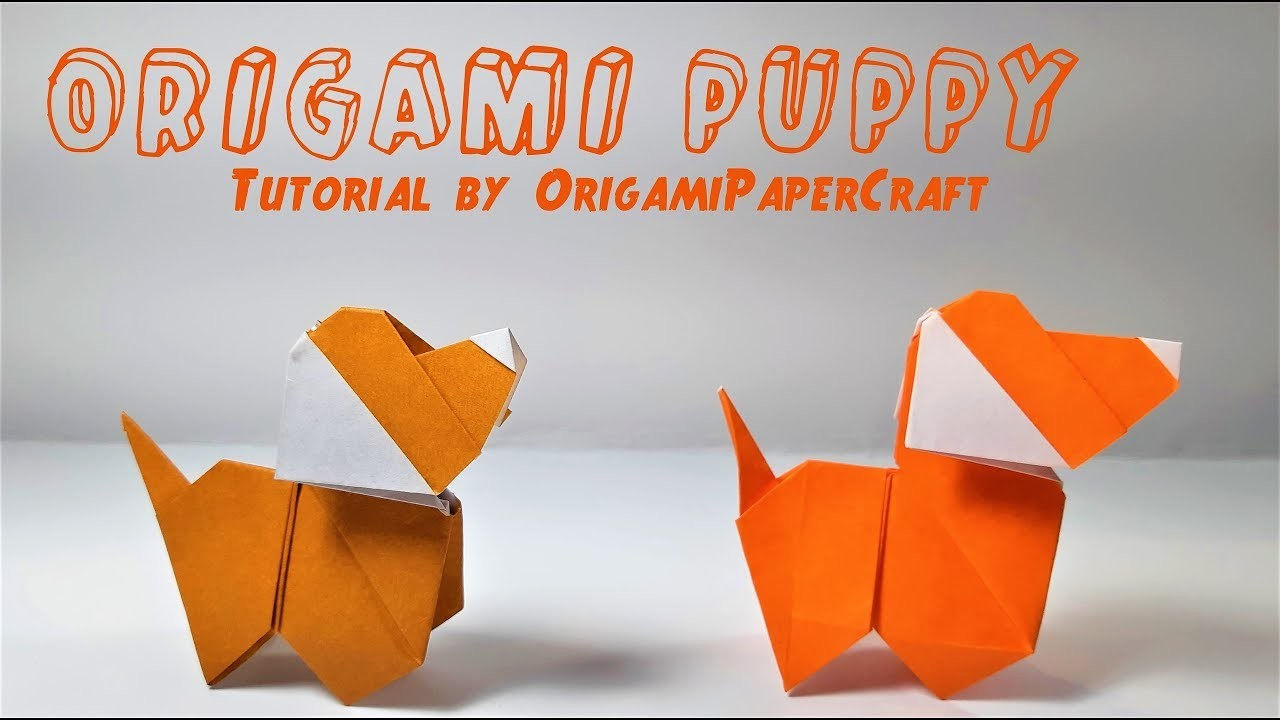 how to make an origami puppy tutorial by