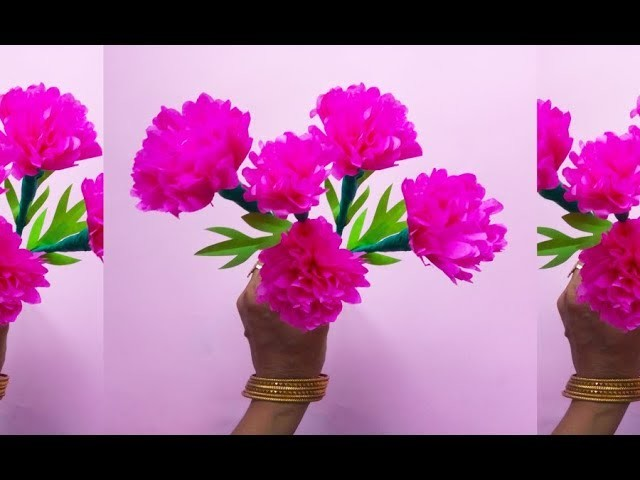 How to make Blooms with tissue paper | Diy | Tissue Paper Flowers