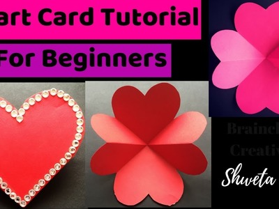 How To Make Heart Greeting Card | Card Tutorial For Beginners