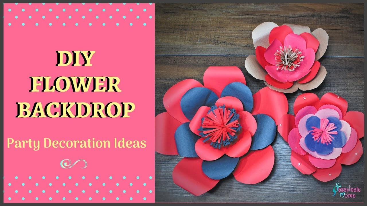 How to make large paper flowers for party or photo shoot backdrop how to make large paper flowers for party or photo shoot backdrop passionate moms mightylinksfo