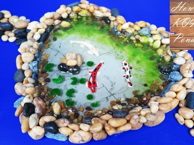 How to Make Miniature Koi Fish Pond - kids project