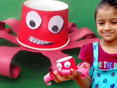 How to Make Octopus Using paper Cup | Paper Crafts for KIDS | Easy Paper Cup Ideas for KIDS