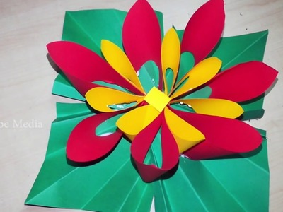 Origami videos tutorials how to make origami paper flowers videos how to make paper flowers easy diy ideas color paper mightylinksfo