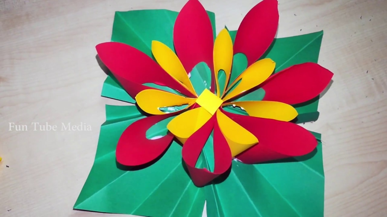 How To Make Paper Flowers. Easy DIY Ideas. Color Paper Folding Flowers Craft Works. Fun Tube Media
