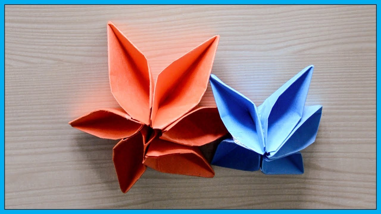 How To Make An Easy Origami Flower For Beginners Flowers Healthy