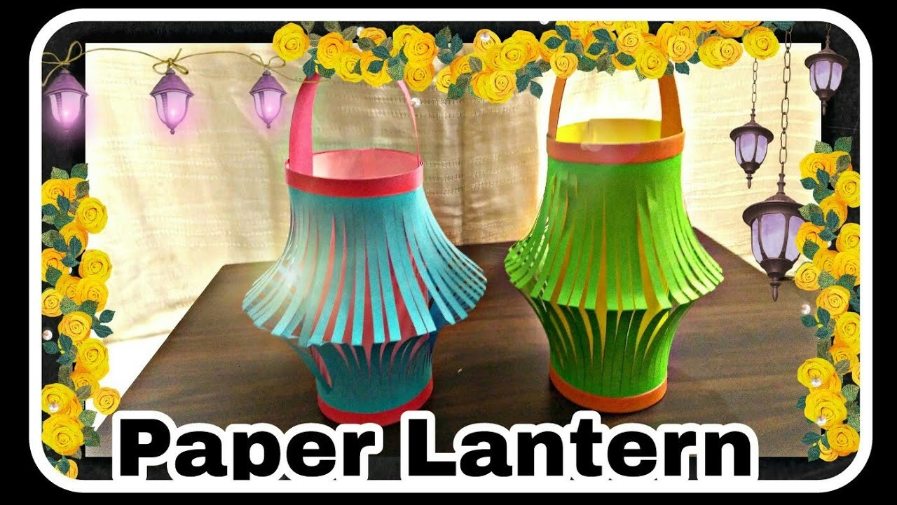 How to make paper Lantern || DIY Diwali Lantern || घर पर कागज की लालटेन कैसे बनाएं