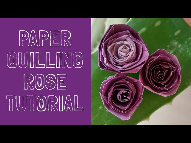 How To Make Paper Quilling Rose Flower Using Quilling Tool Or Needle