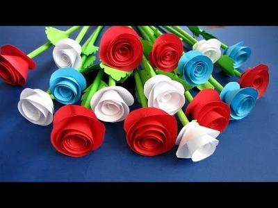How To Make Paper Rose Flower - DIY Handmade Craft - Paper Craft 1