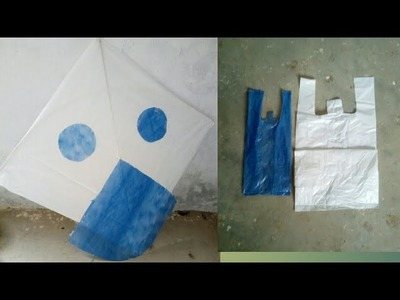 How to make patang at home with plastic bag.kite making