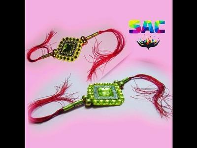 How to make rakhi at home   Raksh bandhan   DIY Rakhi making   silk thread rakhi  h