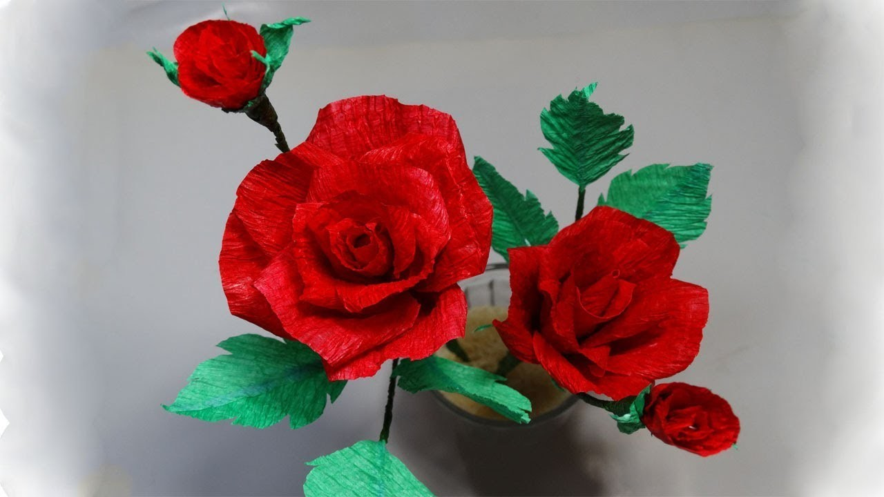 How To Make Rose Crepe Paper Crepe Paper Flower Making