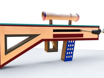 How To Make Sniper Rifle From Cardboard That Shoot