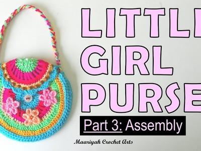 LITTLE GIRL PURSE (Part: 3 of 3 - Assembly) [DIY Crochet] - 022