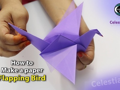 Origami flapping bird || how to make a paper flapping bird || flapping bird || paper bird