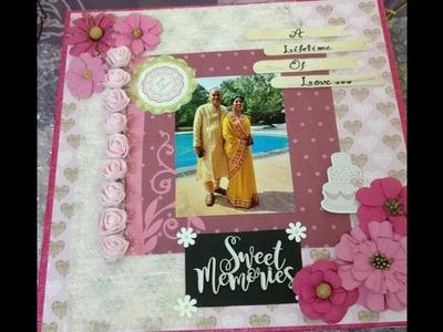 Scrapbook for parents. anniversary scrapbook. love scrapbook