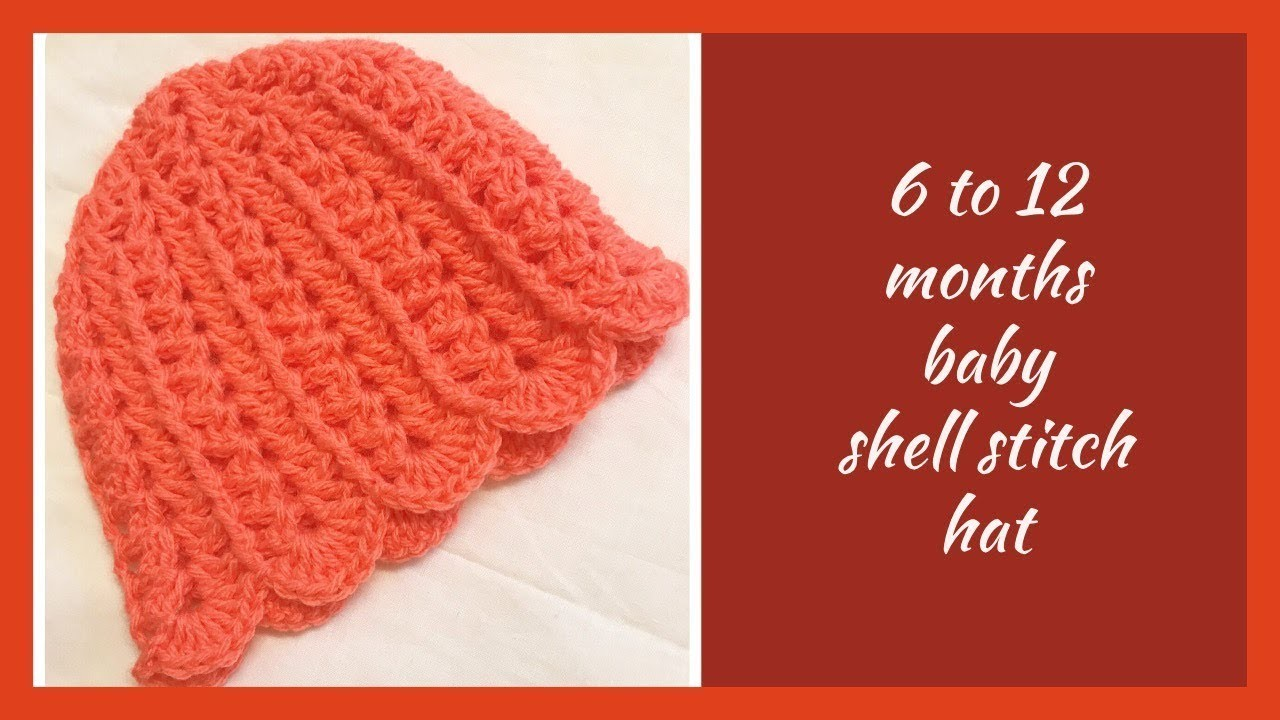 Shell stitch crochet hat for beginners (any sizes) - English version
